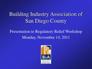 Building Industry Association of San Diego County