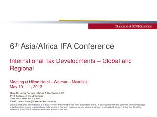 6 th  Asia/Africa IFA Conference