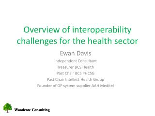Overview of interoperability challenges for the health sector