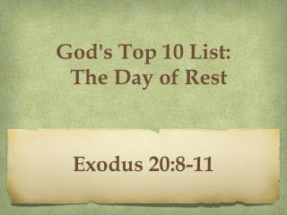 Exodus 20:8-11