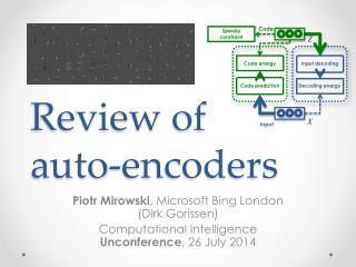 Review of  auto-encoders