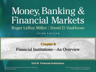 Financial Institutions—An Overview