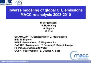 Inverse modeling of global CH 4  emissions  MACC re-analysis 2003-2010