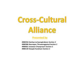 Cross-Cultural Alliance