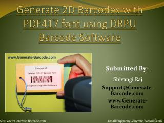 Design Barcode with PDF 417 font by using DRPU Barcode Tool