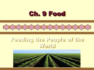 Feeding the People of the World