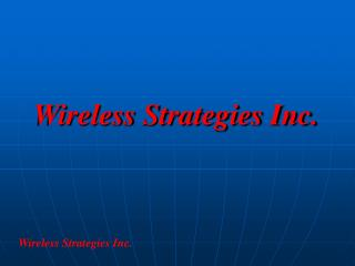 Wireless Strategies Inc.