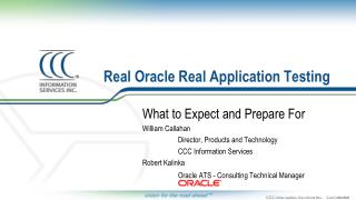 Real Oracle Real Application Testing