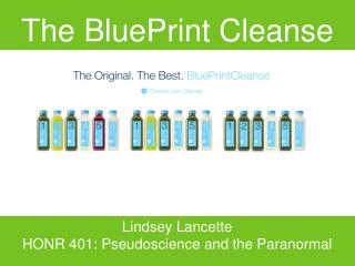 The BluePrint Cleanse