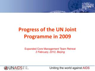 Progress of the UN Joint Programme in 2009