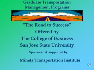 Graduate Transportation Management Programs
