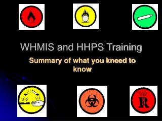 WHMIS and HHPS Training