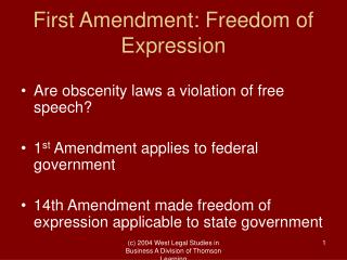 First Amendment: Freedom of Expression