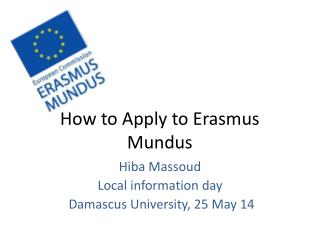 How to Apply to Erasmus  Mundus