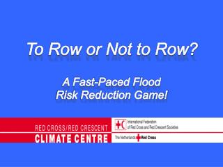 To Row or Not to Row? A Fast-Paced Flood  Risk Reduction Game!
