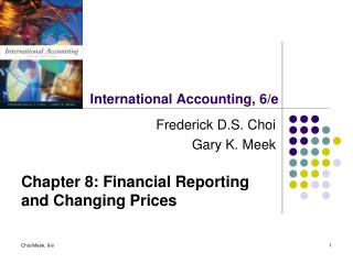 International Accounting, 6/e