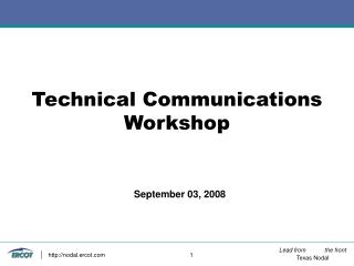 Technical Communications Workshop