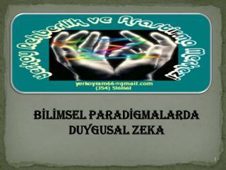 BİLİMSEL PARADİGMALARDA  DUYGUSAL ZEKA