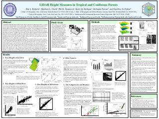 LIDAR Height Measures in Tropical and Coniferous Forests