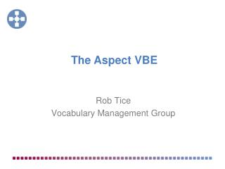 Rob Tice Vocabulary Management Group
