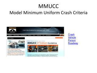MMUCC Model Minimum Uniform Crash Criteria