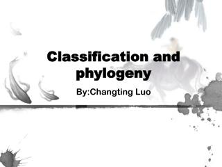 Classification and phylogeny