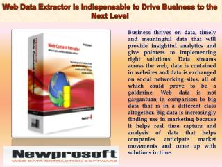 Web Data Extractor Is Indispensable to Drive Business to the