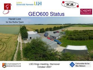 GEO600 Status