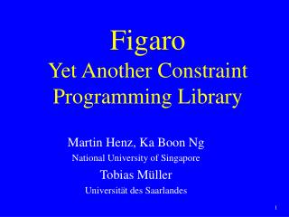 Figaro Yet Another Constraint Programming Library