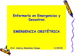 EMERGENCIA OBSTÉTRICA