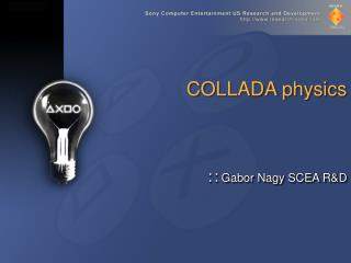 COLLADA physics
