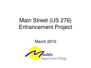 Main Street (US 276) Enhancement Project