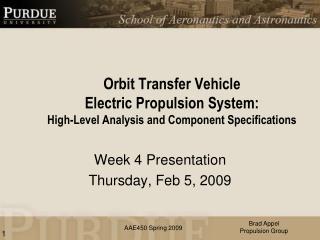 Week 4 Presentation Thursday, Feb 5, 2009