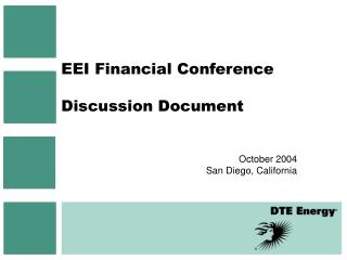 EEI Financial Conference Discussion Document