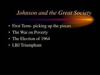 Johnson and the Great Society