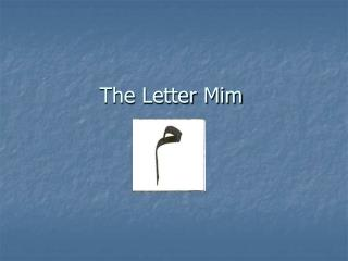 The Letter Mim