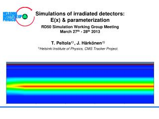 Simulations of irradiated detectors: E(x) & parameterization