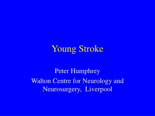 Young Stroke