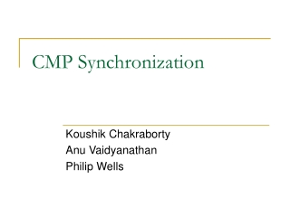 CMP Synchronization
