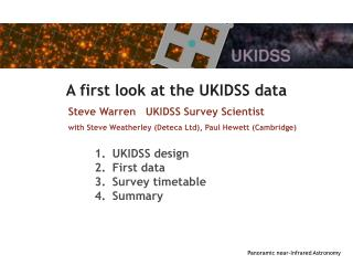 A first look at the UKIDSS data