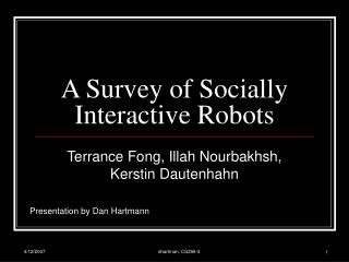 A Survey of Socially Interactive Robots