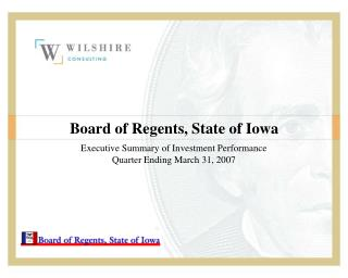 Board of Regents, State of Iowa