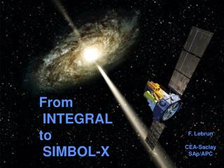 From  INTEGRAL  to  SIMBOL-X