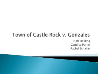 Town of Castle Rock v. Gonzales