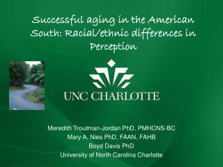 Successful aging in the  American South : Racial/ethnic differences in  Perception