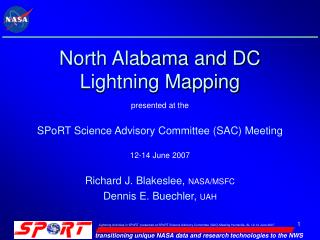 North Alabama and DC Lightning Mapping