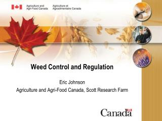 Weed Control and Regulation
