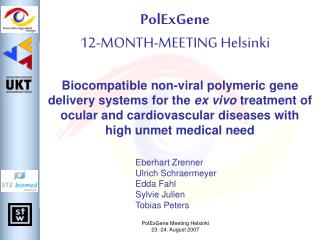PolExGene 12-MONTH-MEETING Helsinki