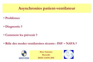 Asynchronies patient-ventilateur