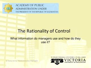 The Rationality of Control